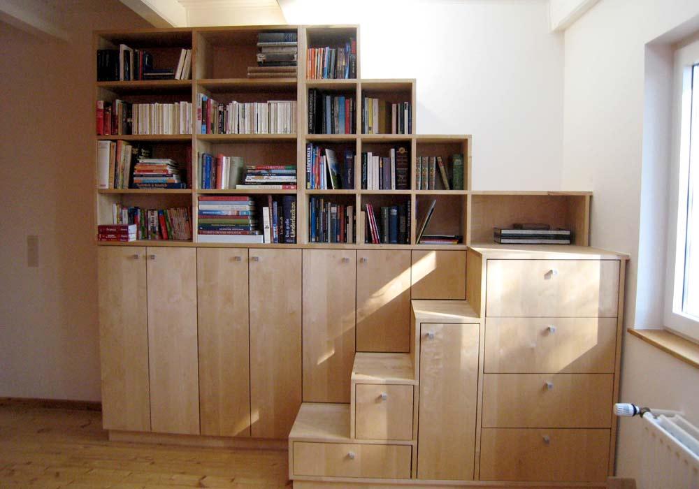 Escaliers d'étagères
