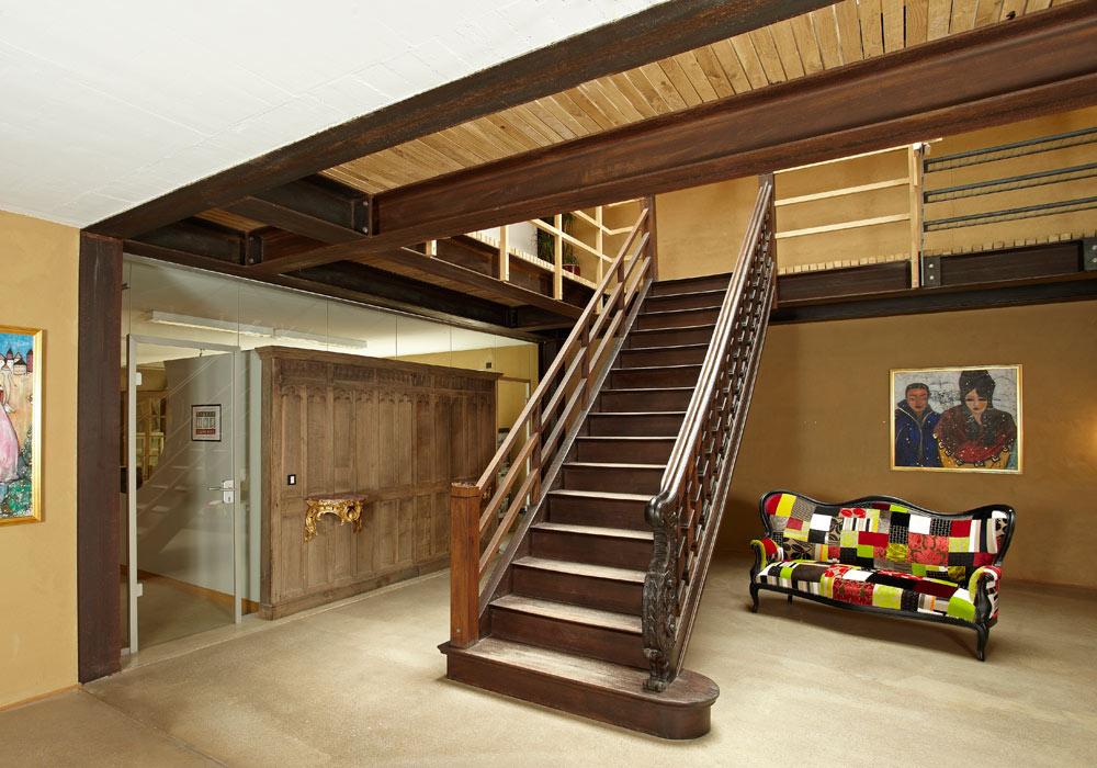 Restauration d'un vieil escalier